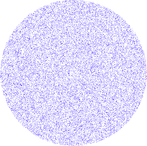 Blue Noise Circle