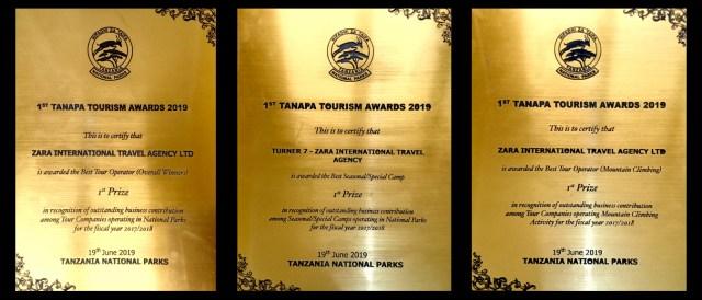 Tanapa awards 2019