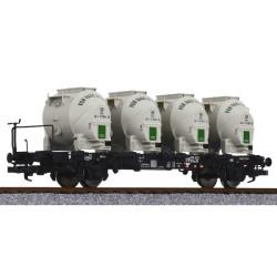 Vagón de contenedores a granel, DB, Epoca III, Escala H0. Marca Liliput, Ref: L235125.