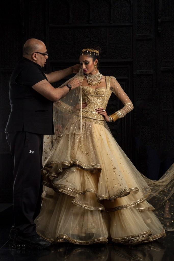 Tarun Tahiliani and model