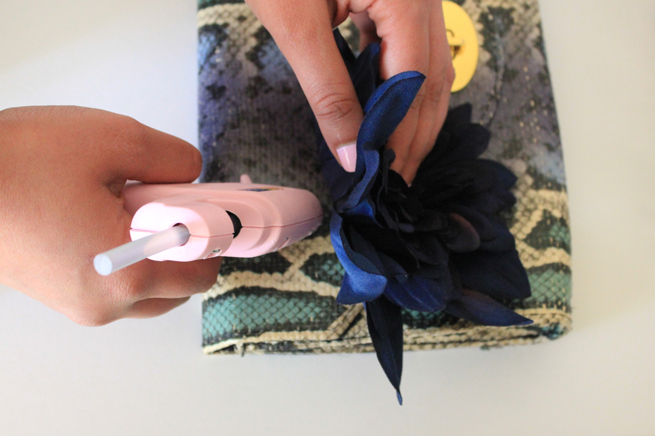 Attach Flowers to Your DIY Clutch