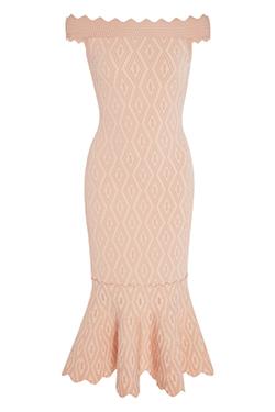 Jonathan Simkhai Diamond Jacquard Off-The-Shoulder Dress