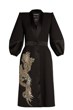 Alexander McQueen Phoenix and dragon-embellished kimono dress