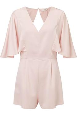 Miss Selfridge Pink Cape Playsuit