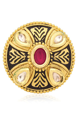 Opalina Antique Gold Plated Kundan Ring