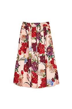 Zara Floral Print Midi Skirt