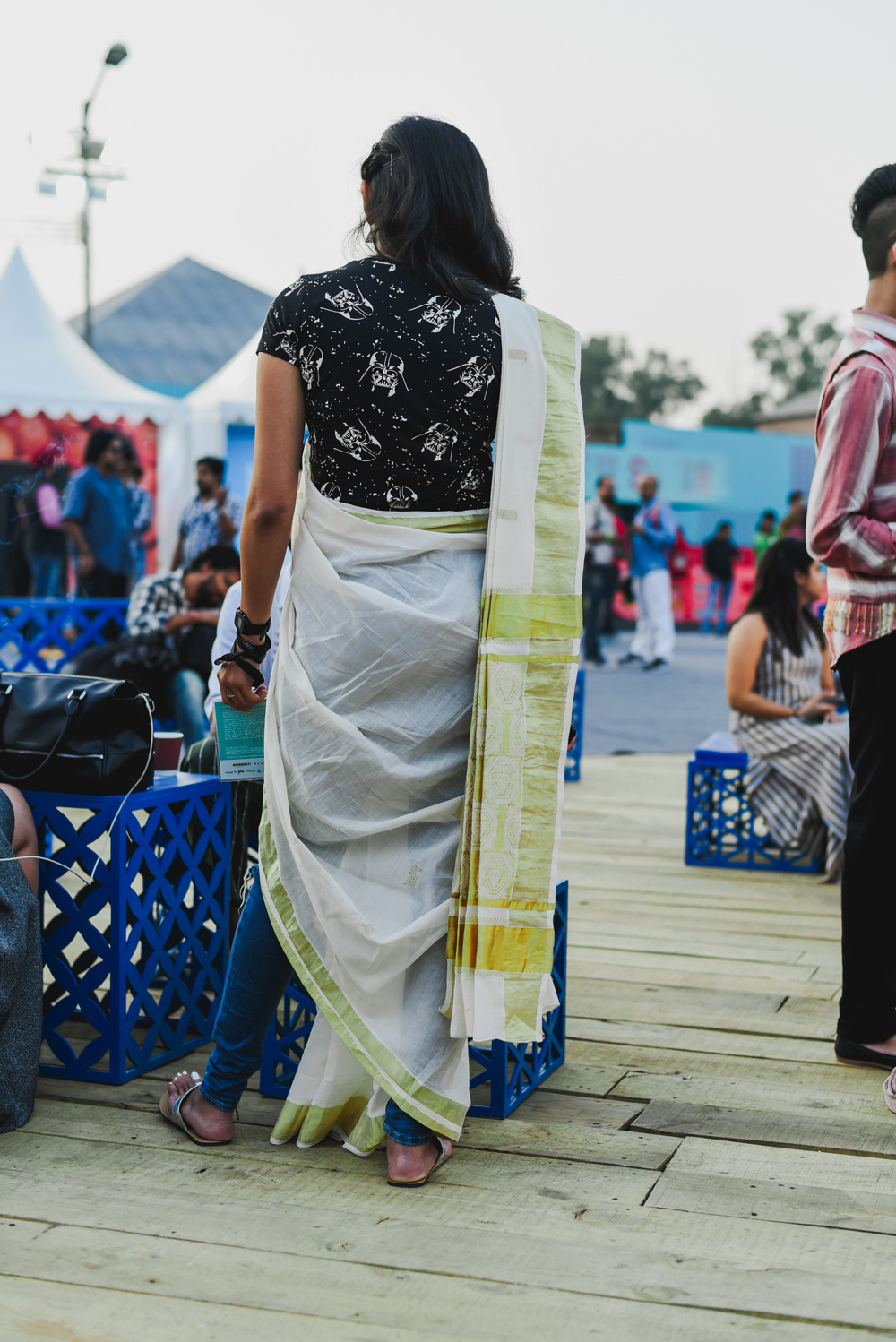 Street Style Amazon India Fashion Week Spring Summer 2018; Photo by The Co Lab
