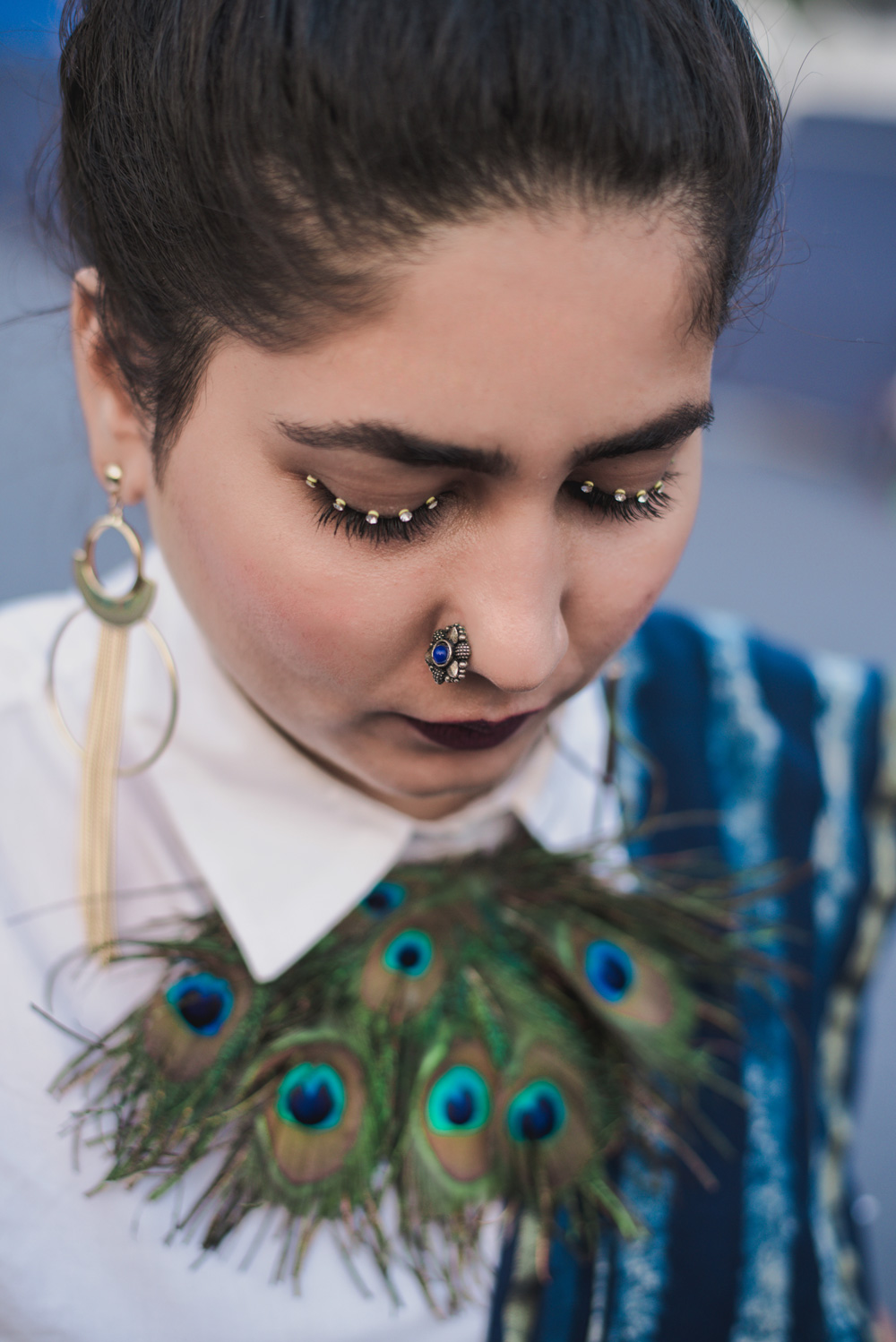 Syed Aisha Street Style Amazon India Fashion Week Spring Summer 2018; Photo by The Co Lab