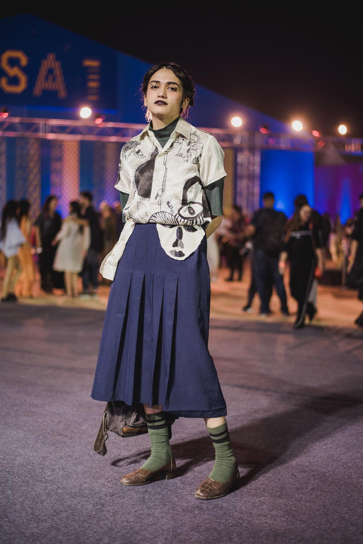 Tanya Maheshwari   Street Style Amazon India Fashion Week Spring Summer 2018; Photo by The Co Lab