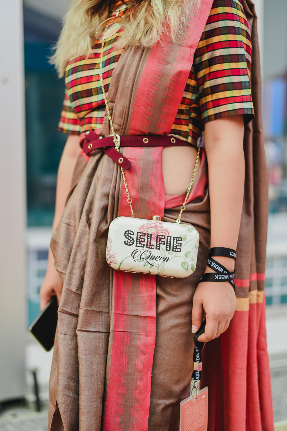 Blogger Srish | Street Style Amazon India Fashion Week Spring Summer 2018; Photo by The Co Lab