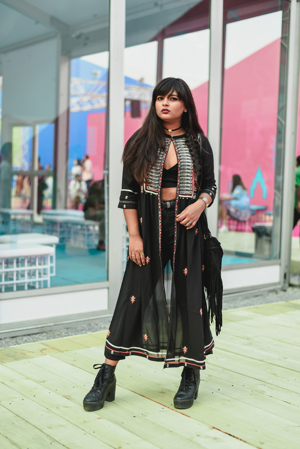 Stylist Aisha | Street Style Amazon India Fashion Week Spring Summer 2018; Photo by The Co Lab