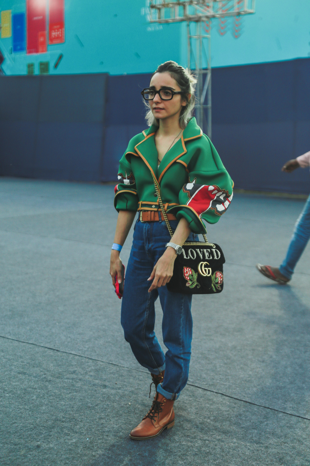 Blogger Kayaan Contractor   Street Style Amazon India Fashion Week Spring Summer 2018; Photo by The Co Lab