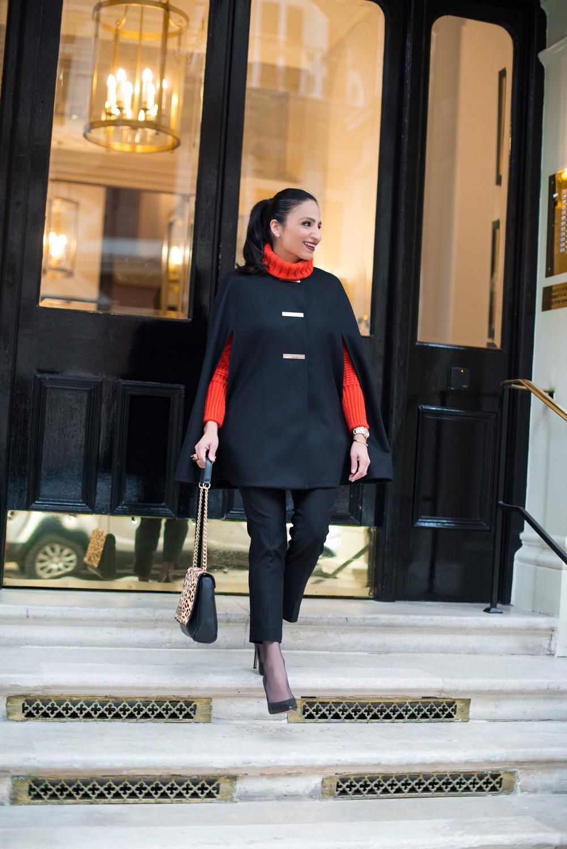 London Winter Style Tips: Woolen Cape; Isha's Verdict