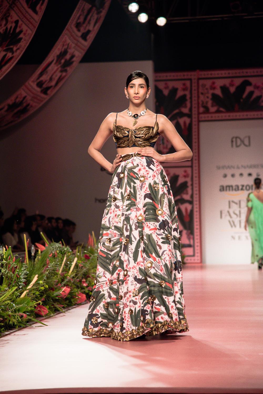 Shivan and Narresh FDCI Amazon India Fashion Week Spring Summer 2018 Look 12