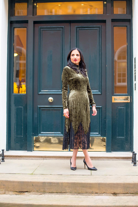 London Winter Style Tips: Velvet Dress; Isha's Verdict