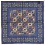 Poszetka Drake's Blue Tapestry Print