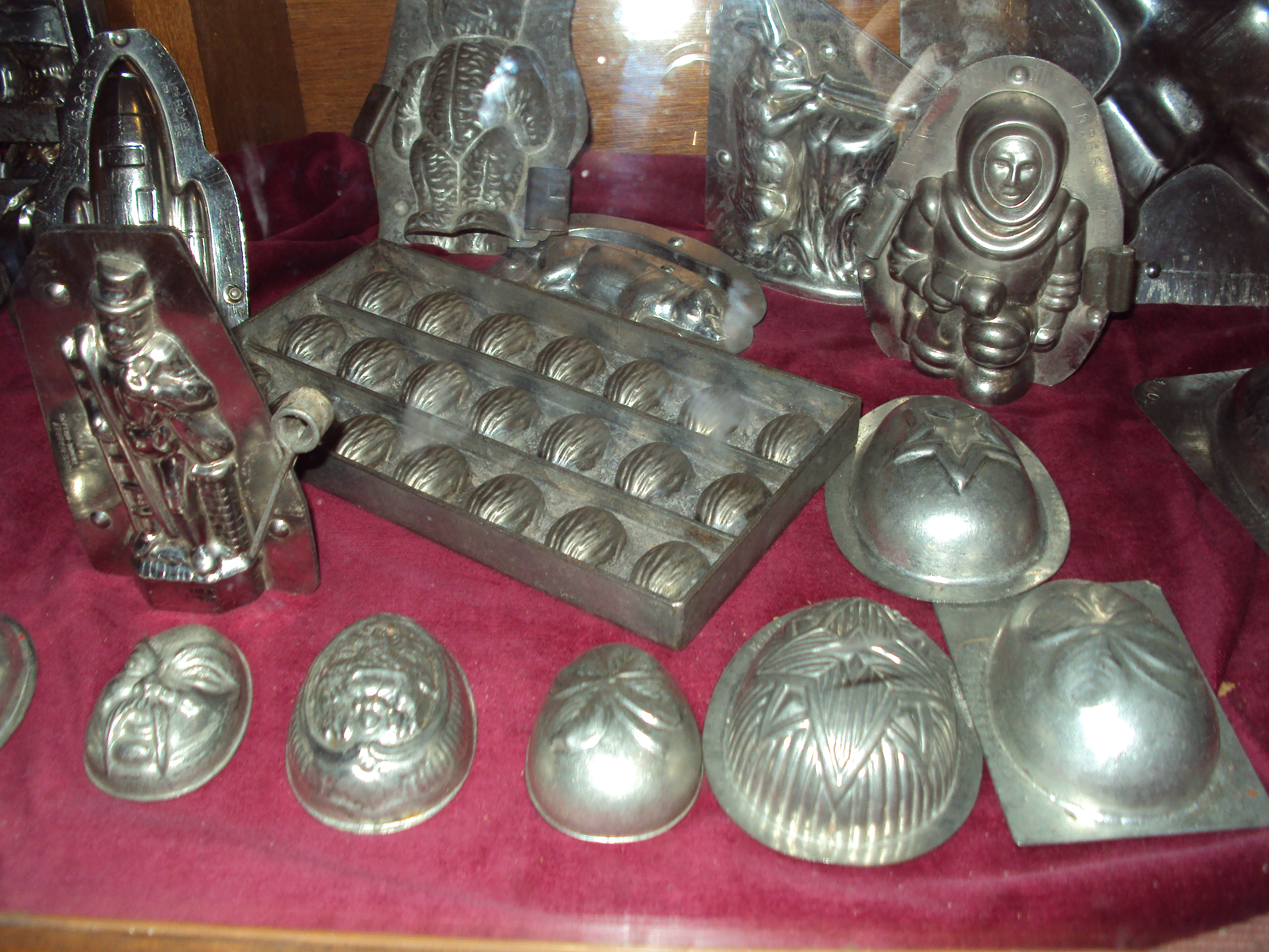 Chocolate moulds loving carved by Willy Wonka