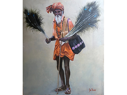 The seller of peacock feathers