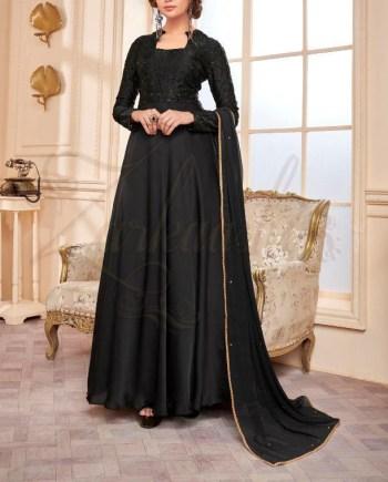 Satin Georgette Dress
