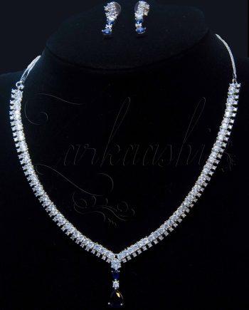 CZ Blue Stone Necklace