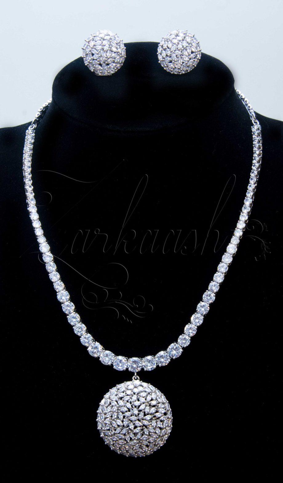 Royal CZ Necklace Set