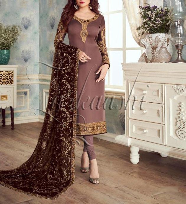 Satin Georgette Suit