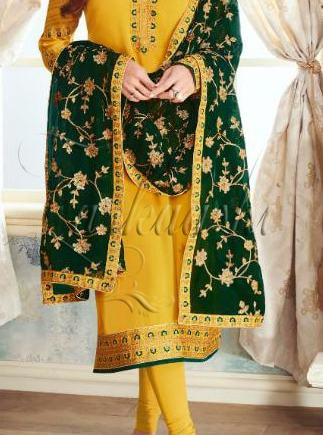 BEST PARTY WEAR SUIT WITH HEAVY EMBROIDERED DUPATTA
