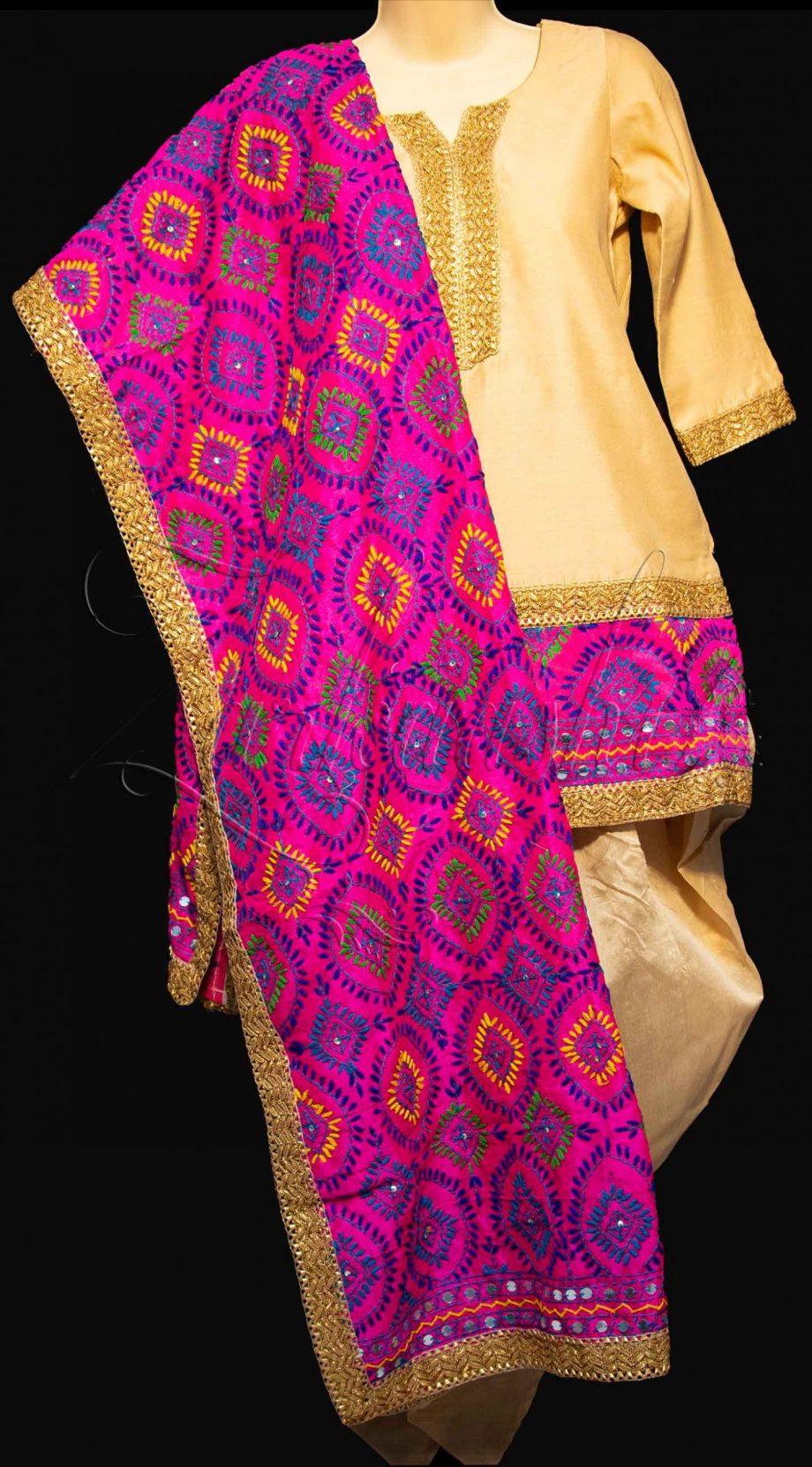 Best Chanderi Silk with Dhoti Pants