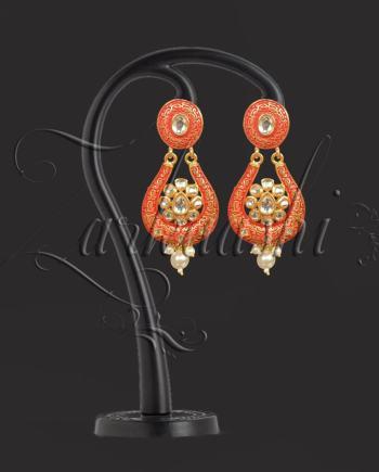 best kundan and meenakari earring