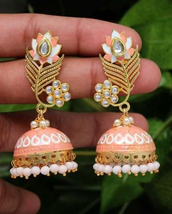 Stone Meenakari Earrings