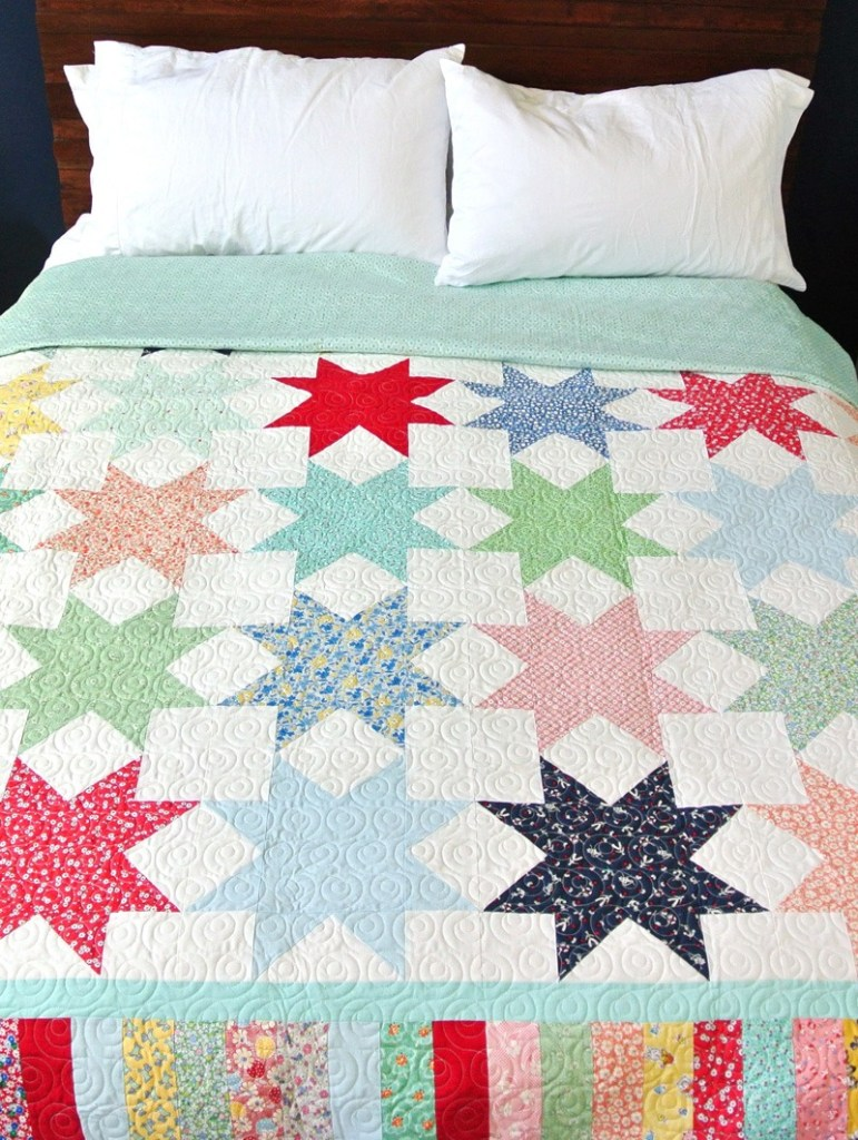eight point star quilt block tutorial