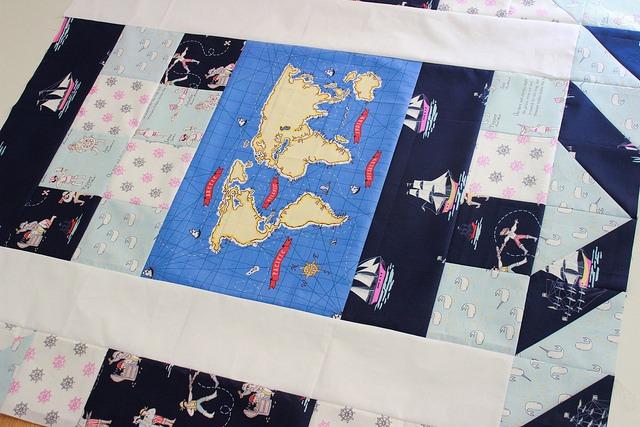Sailor baby quilt