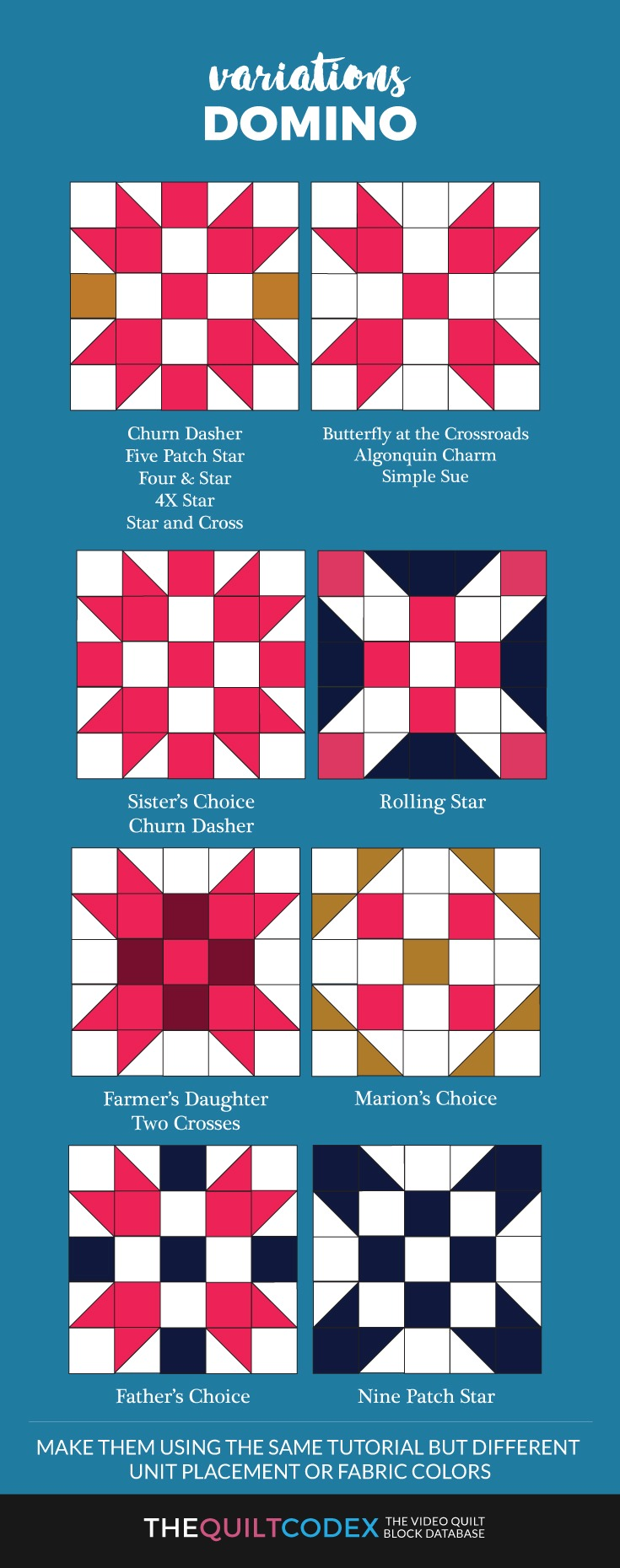 domino quilt block variations