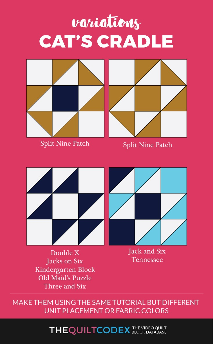 Cat's cradle quilt block variations