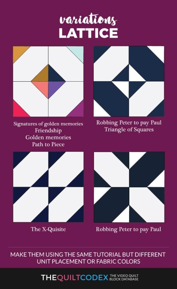 lattice quilt block variations