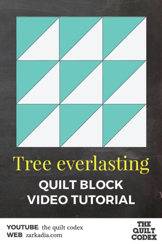 Tree everlasting quilt block