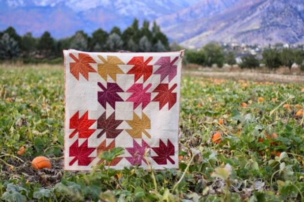 Maple leaf quilt block