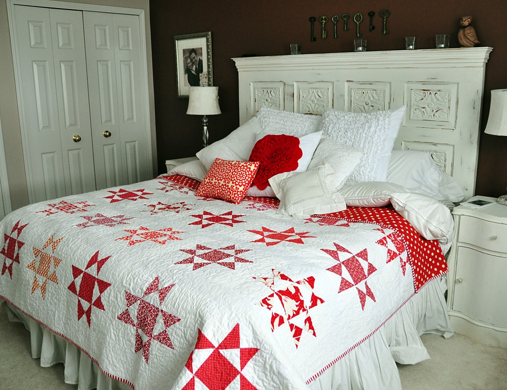 Ohio Star red quilt
