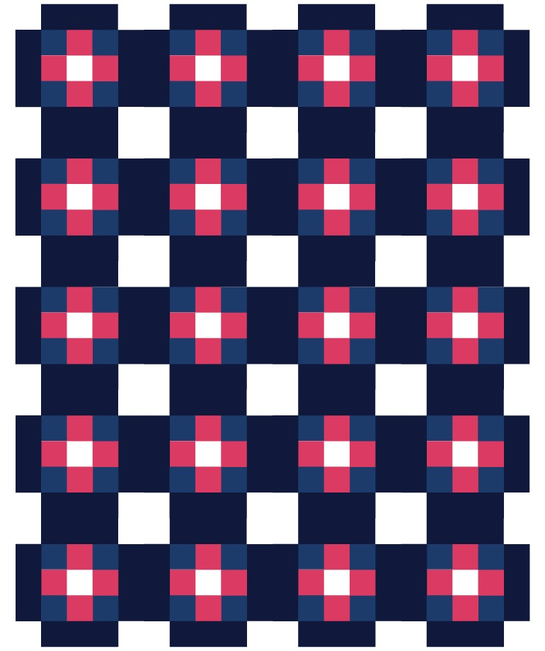 cross patch quilt