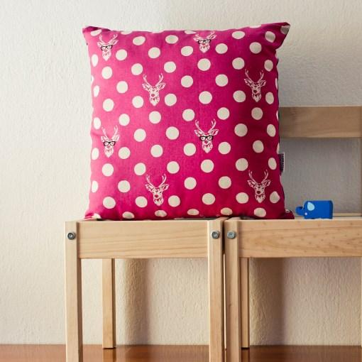 pink fuchsia pillow cover