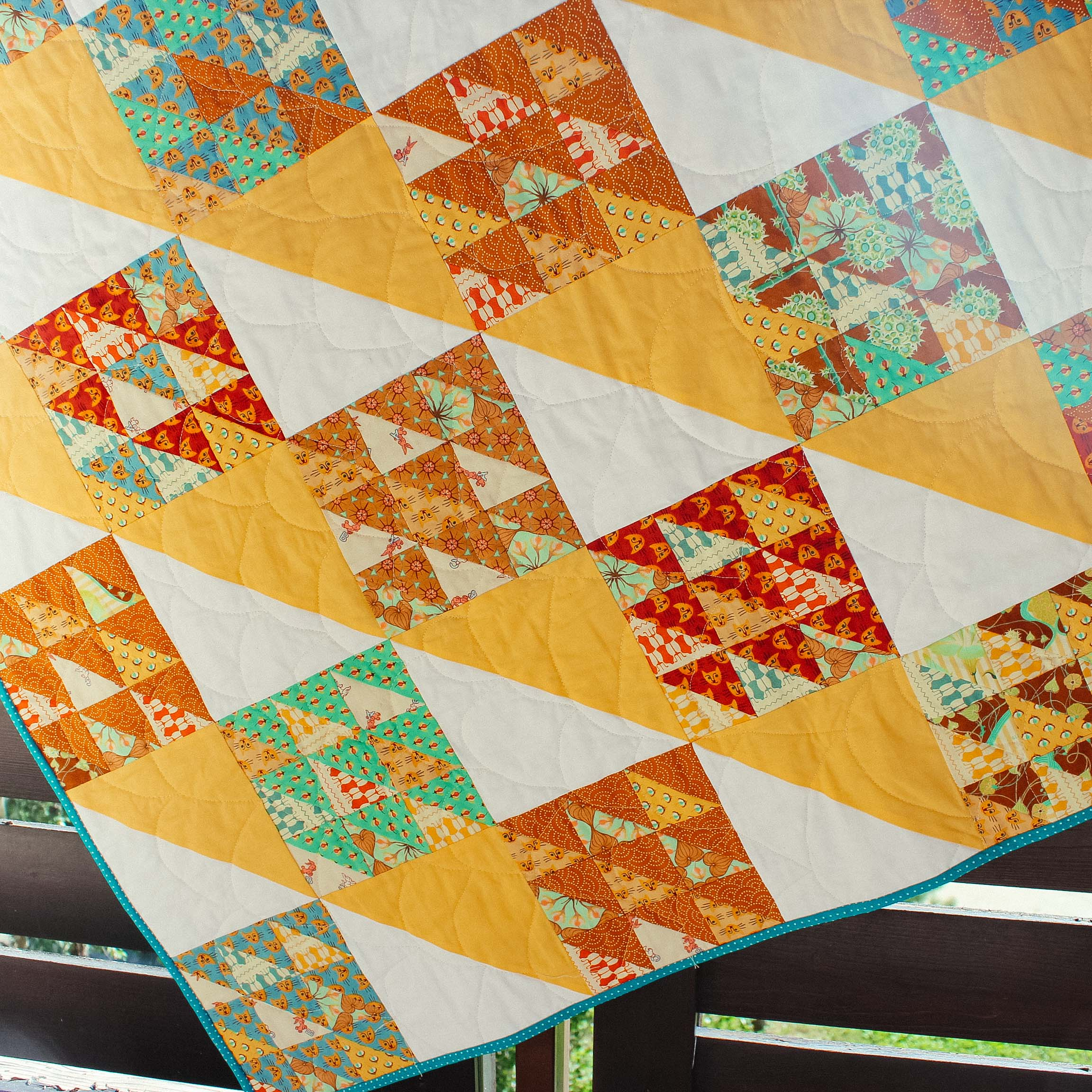 half square triangle quilt