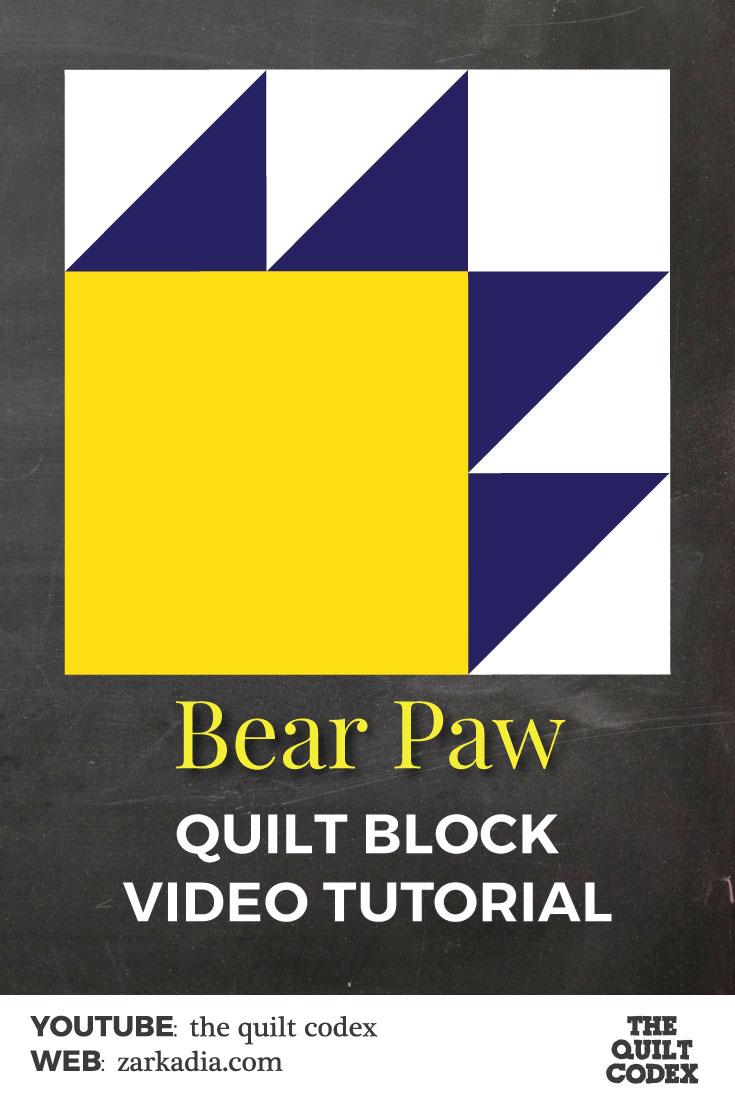 bear paw quilt block tutorial