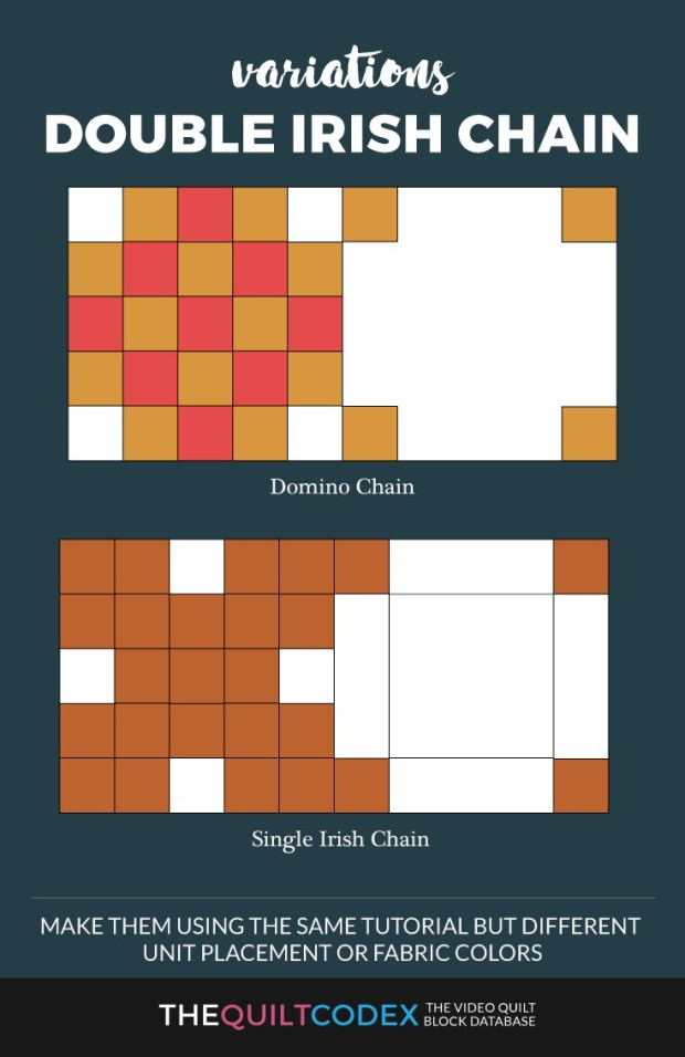double irish chain quilt block variations