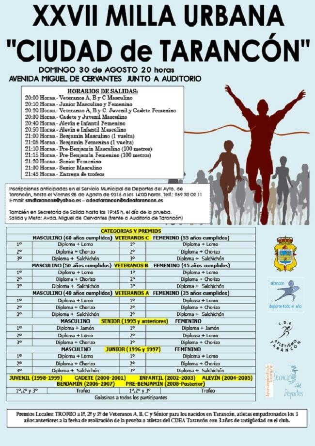 Cartel de la Milla Urbana en Tarancón 2015