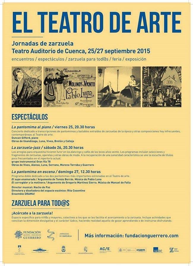 Cartel de las Jornadas de la Zarzuela 2015 en Cuenca