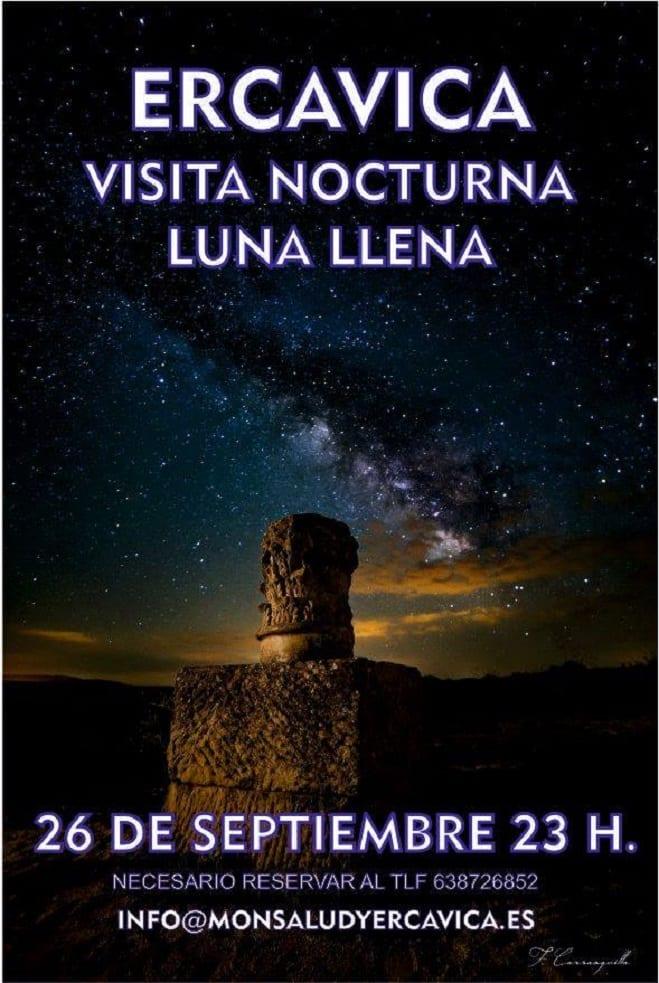 Visita nocturna Ercavica luna llena