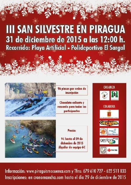 Cartel de la San Silvestre en Piragua 2015