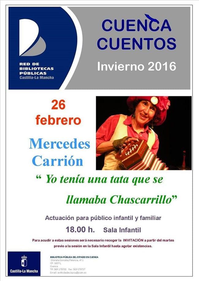 Mercedes Carrión, cuentacuentos en Cuenca