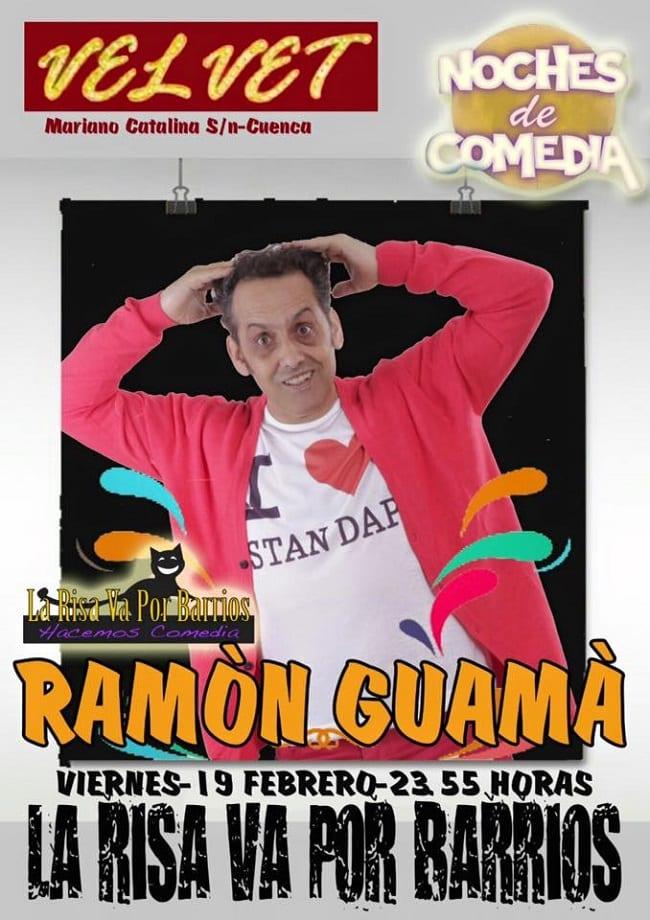 Noche de comedia con Ramón Guamá en Velvet, Cuenca