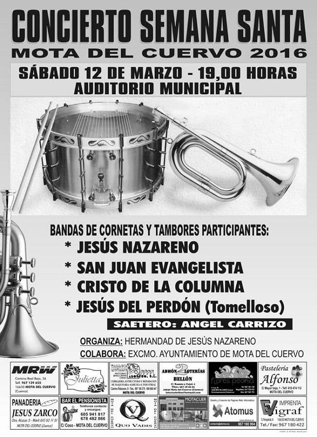 Conciertos de Semana Santa en Mota del Cuervo, Cuenca